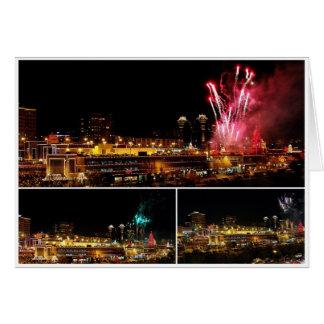 Cartão A plaza de Kansas City ilumina a colagem,
