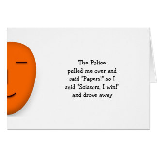 Cartão A polícia balança o costume engraçado das citações