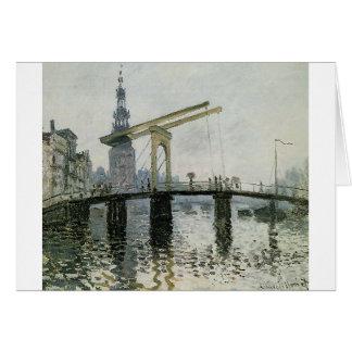 Cartão A ponte, Amsterdão por Claude Monet