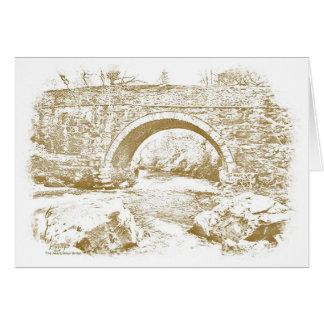 Cartão A ponte de Aberglaslyn