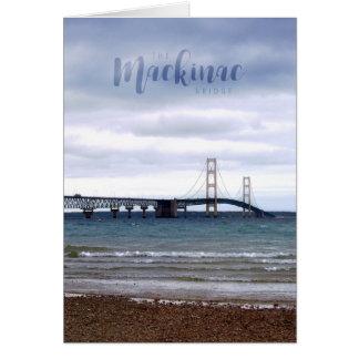 Cartão A ponte de Mackinac