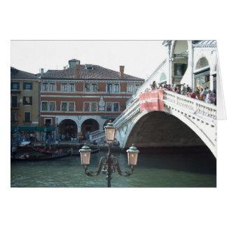 Cartão A ponte de Rialto, Veneza