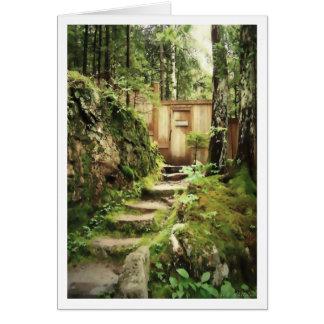 Cartão A porta à montanha de Eliot