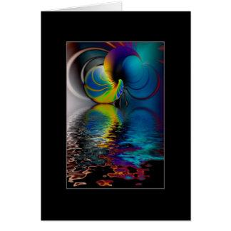 Cartão A porta através da água