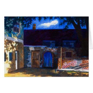 Cartão A porta azul
