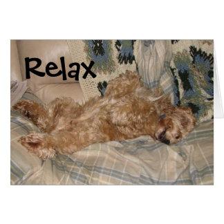 Cartão A possibilidade relaxa