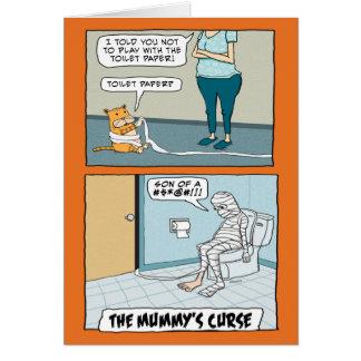 Cartão A praga o Dia das Bruxas da mamã engraçada