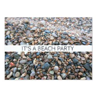 Cartão A praia do Lago Michigan balança seixos bonito da
