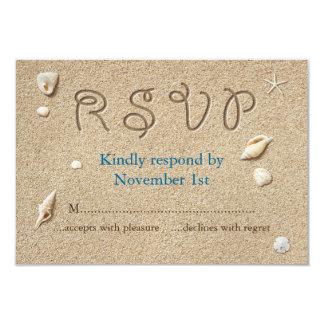 Cartão A praia Sandy Toes os beijos salgados RSVP