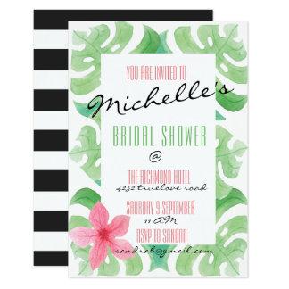 Cartão A praia tropical do verão convida o branco