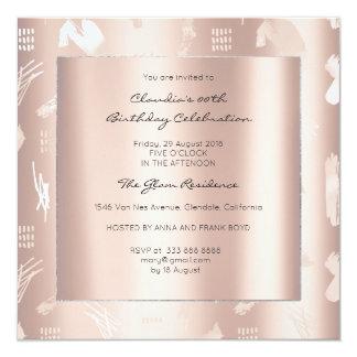 Cartão A prata perolado metálica abstrata do rosa do rosa