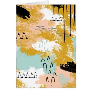Cartão A presença de vida, hortelã tribal da arte