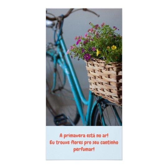 Cartão A Primavera Está No Ar