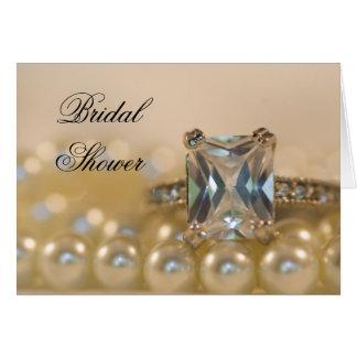 Cartão A princesa anel de diamante peroliza o chá de