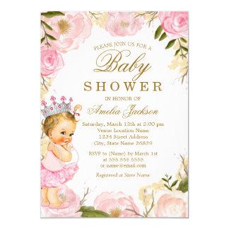 Cartão A princesa cor-de-rosa do bebê é uma menina que o