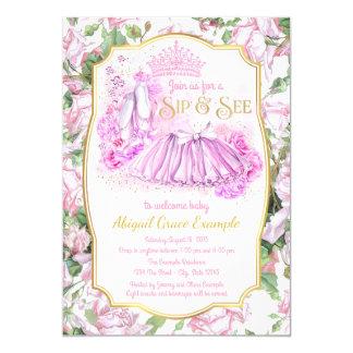 Cartão A princesa cor-de-rosa gasto Sorver do tutu e vê