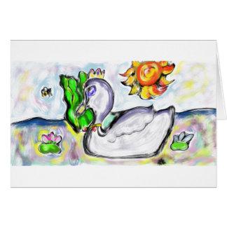 Cartão a princesa da cisne dela