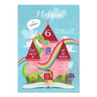 Cartão A princesa festa de aniversário do castelo do