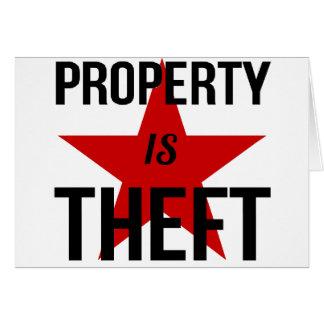 Cartão A propriedade é roubo - comunista socialista do