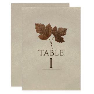 Cartão A queda minimalista da natureza deixa o número