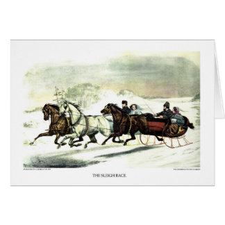 Cartão - a raça do trenó