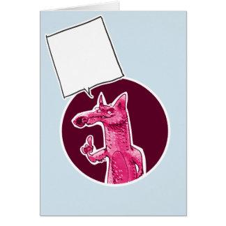 Cartão a raposa dá a algum conselho desenhos animados