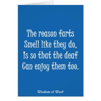Cartão A razão Farts cheiro como fazem