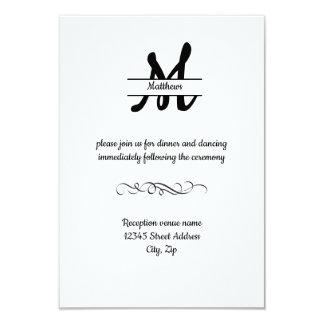 Cartão A recepção Cookie-3x5 elegante simples formal