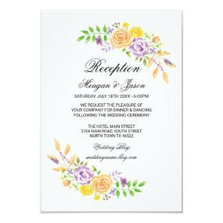 Cartão A recepção de casamento carda a inserção floral