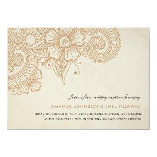 Cartão A recepção de casamento da modificação Mehandi