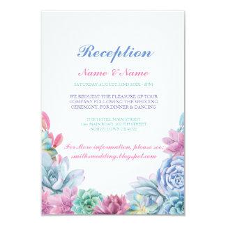 Cartão A recepção de casamento rústica carda Succulents
