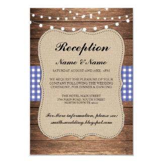 Cartão A recepção de casamento rústica de serapilheira