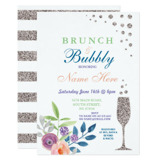 Cartão A refeição matinal & a prata borbulhante do chá de