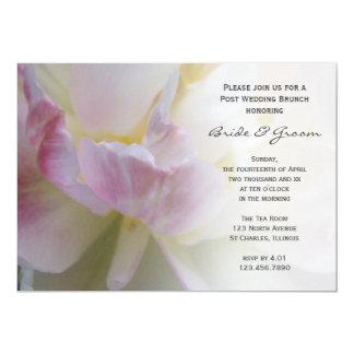 Cartão A refeição matinal branca cor-de-rosa do casamento