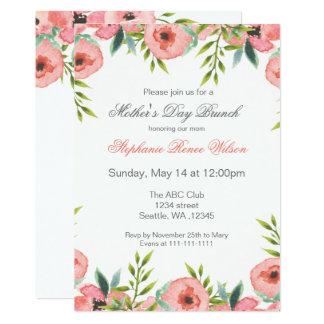 Cartão A refeição matinal do dia das mães das flores da