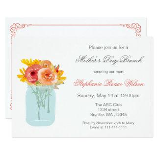 Cartão A refeição matinal floral do dia das mães do