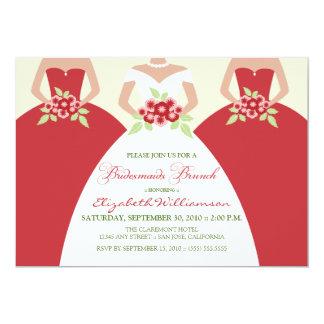 Cartão A refeição matinal nupcial da noiva & das damas de