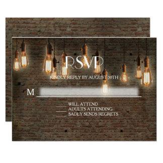 Cartão A resposta Edison industrial urbano de RSVP