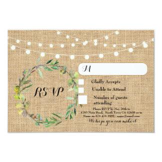 Cartão A resposta floral de serapilheira do casamento de