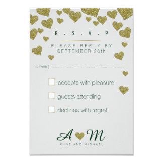 Cartão a resposta, responde casamento do amor de r.s.v.p.