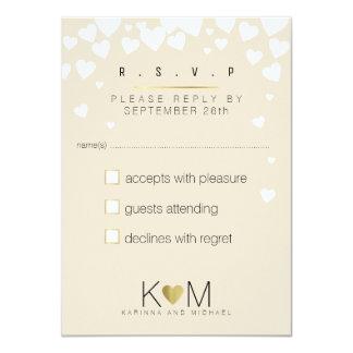 Cartão a resposta, responde rsvp elegante, casamento