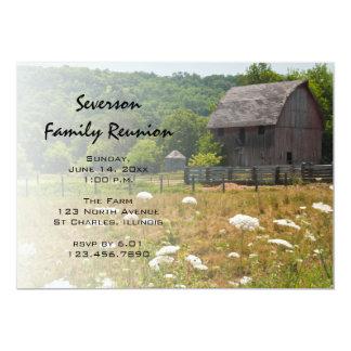 Cartão A reunião de família de madeira resistida do
