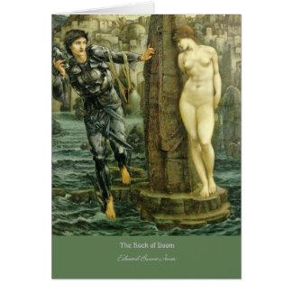 """Cartão """"A rocha da desgraça"""", por Edward Burne-Jones"""