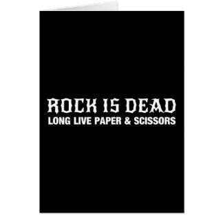 Cartão A rocha está inoperante… vive por muito tempo