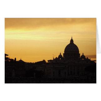 Cartão A Roma de St Peter no por do sol