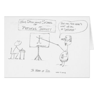 Cartão A sabedoria de Jim: Escola da fisioterapia