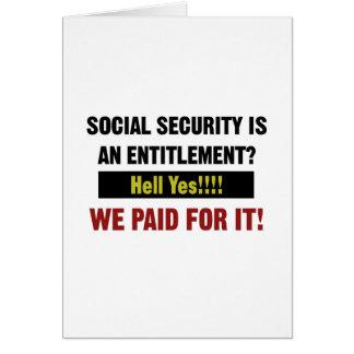 Cartão A segurança social é um direito? , Nós pagamos por