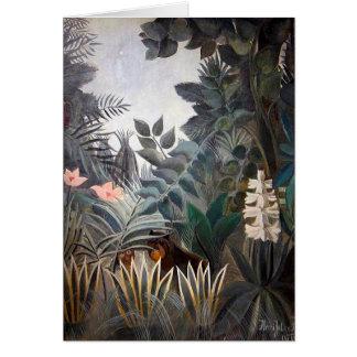 Cartão A selva equatorial