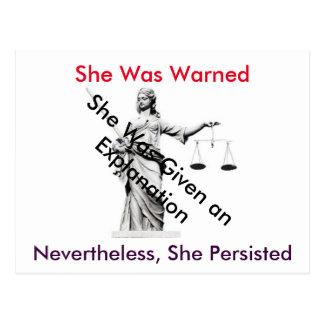 Cartão à senhora branca Justiça da casa