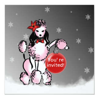Cartão A senhora Caniche envia seus desejos do Natal!